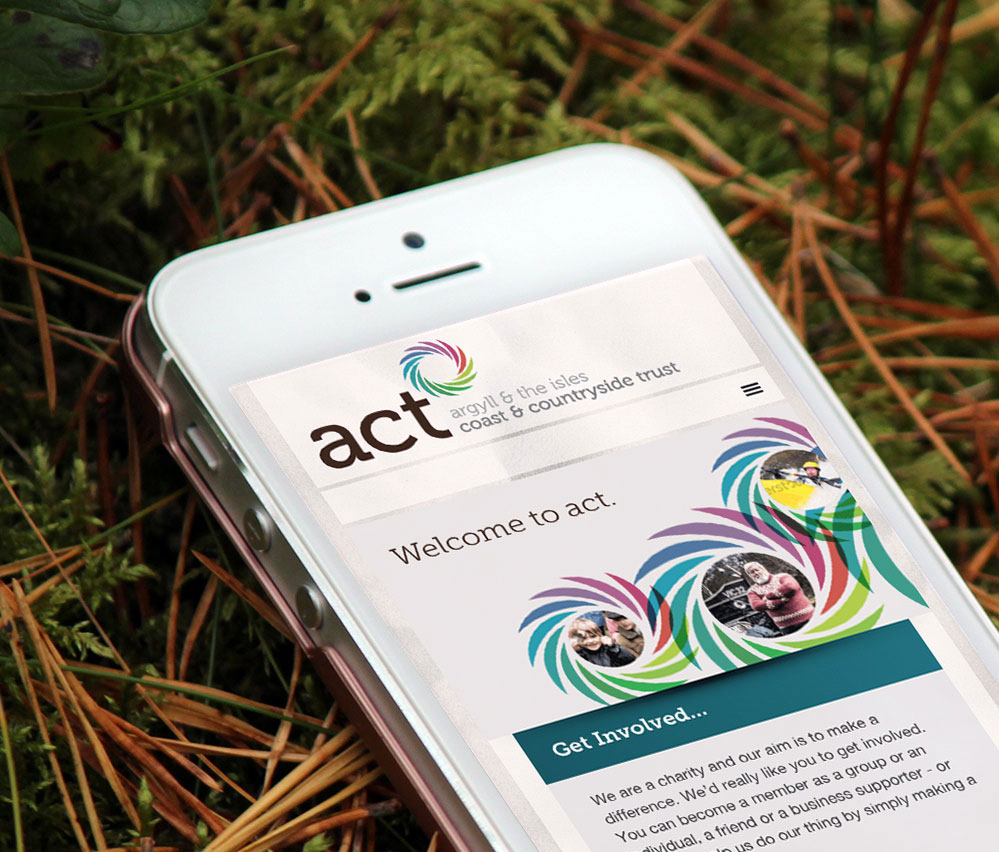 act now mobile website view