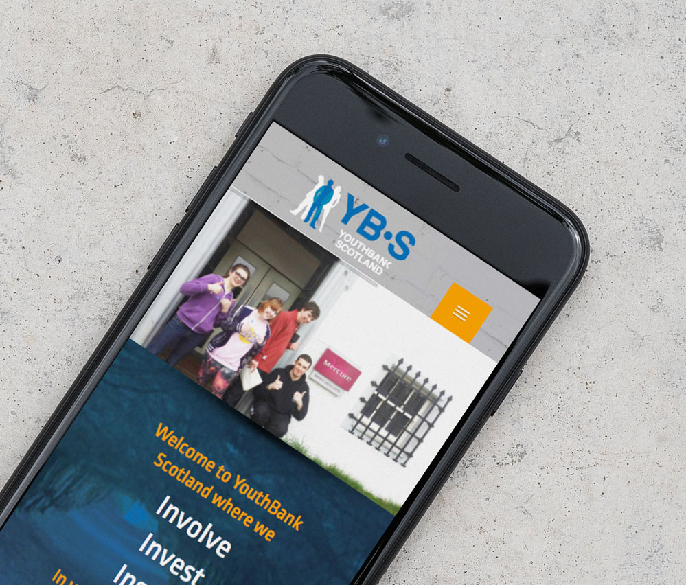 YouthBank Scotland Mobile view website