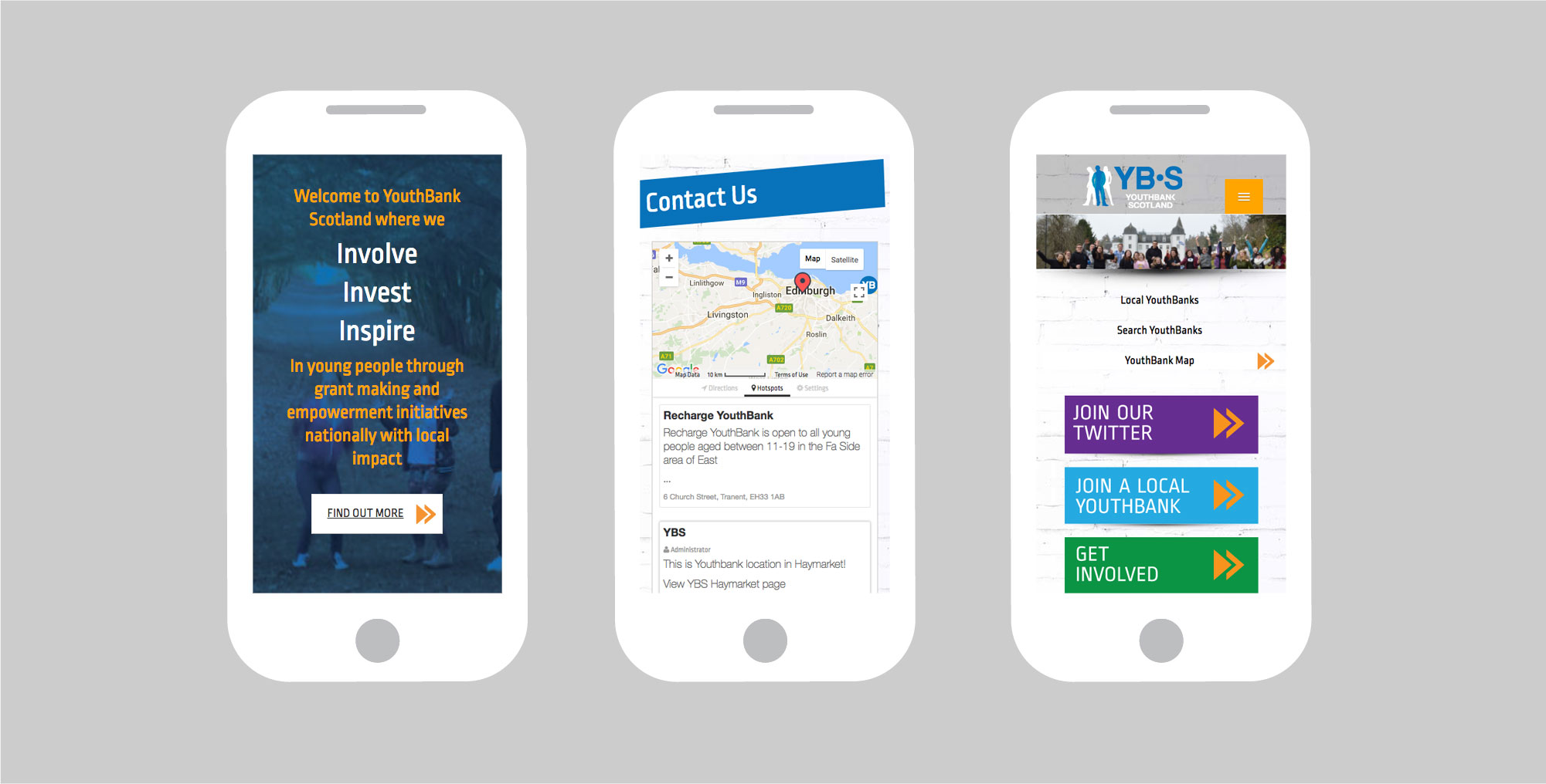 YouthBank Scotland Mobile View