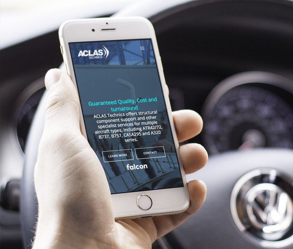 ACLAS Global website mobile view