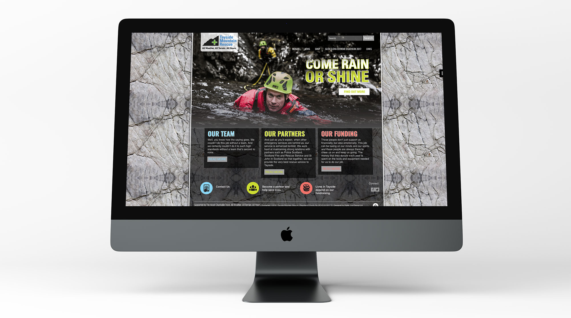 Tayside Mountain Rescue website desktop